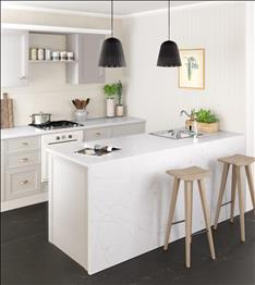 eternal statuario kitchen